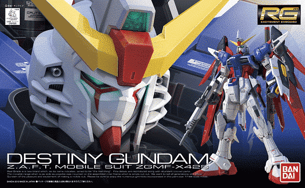 Real Grade ZGMF-X42S Destiny Gundam Box
