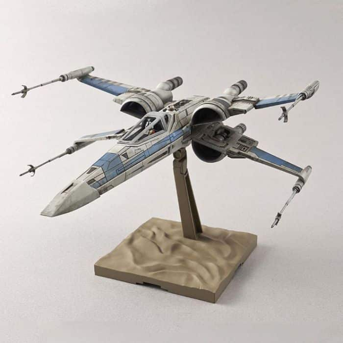 Blue Squadron Resistance X-Wing Fighter Pose 2