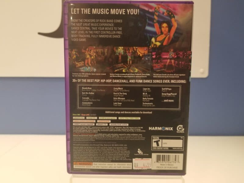 Dance Central Back Cover