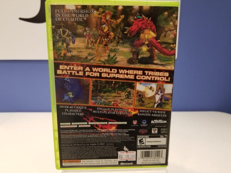 Chaotic Back Cover
