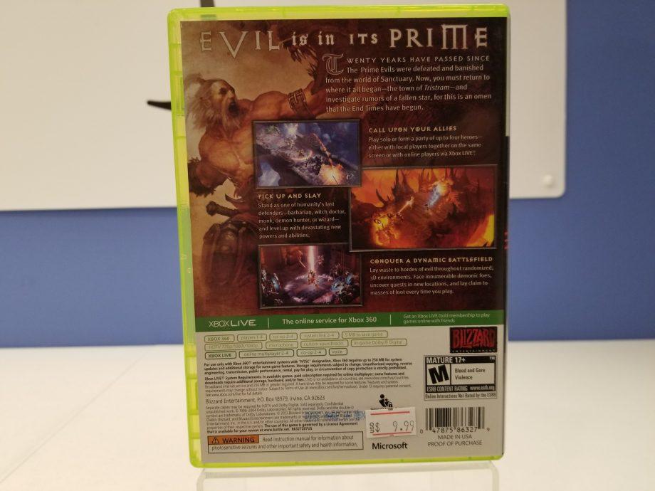 Diablo III Back Cover