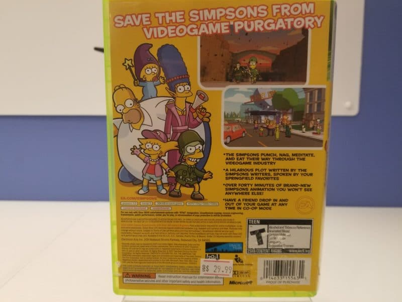 The Simpsons Game Back Cover