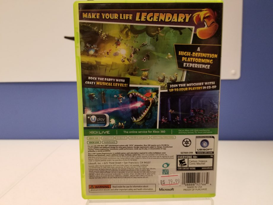 Rayman Legends Back Cover