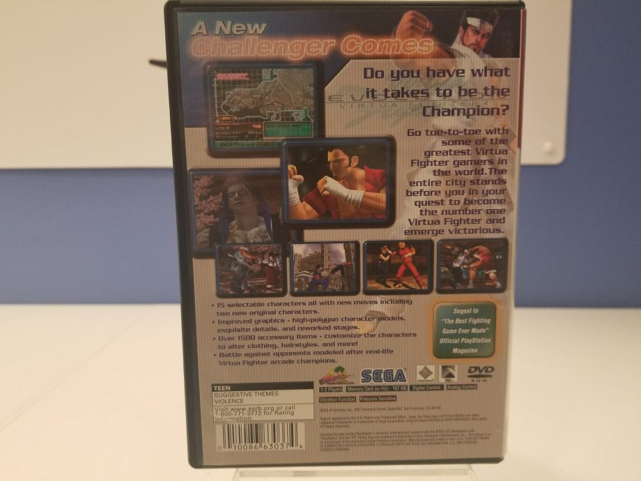 Virtua Fighter 4 Evolution Back Cover