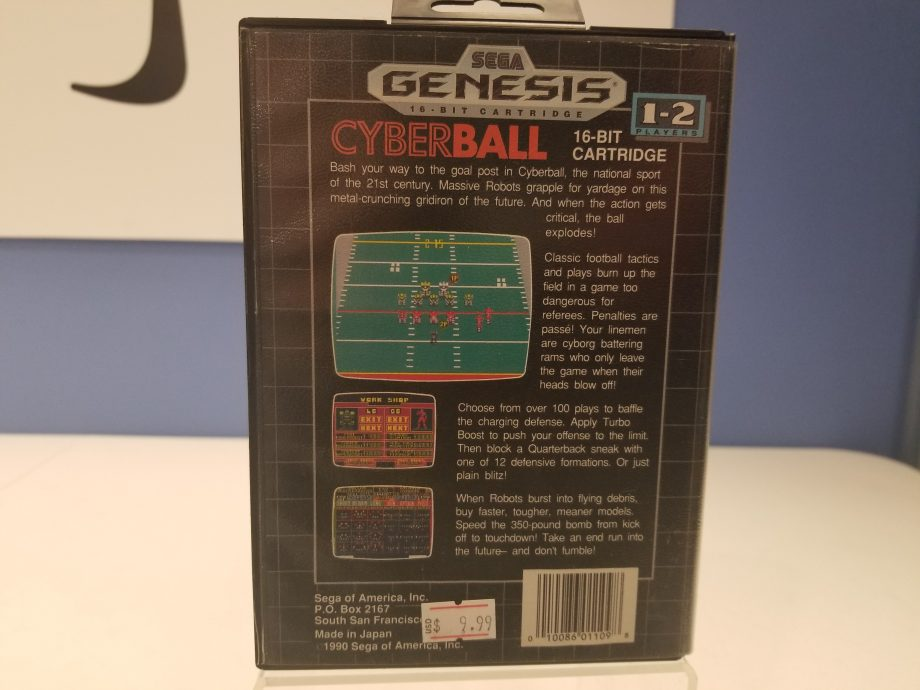 Cyberball Back Cover