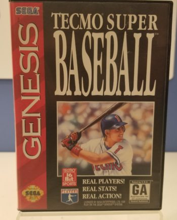 Tecmo Super Baseball Front Cover