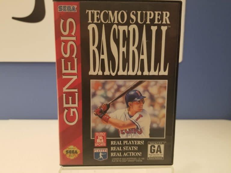 Tecmo Super Baseball Front Cover