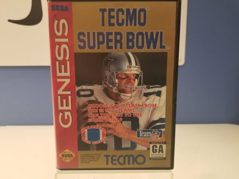 Tecmo Super Bowl Front Cover