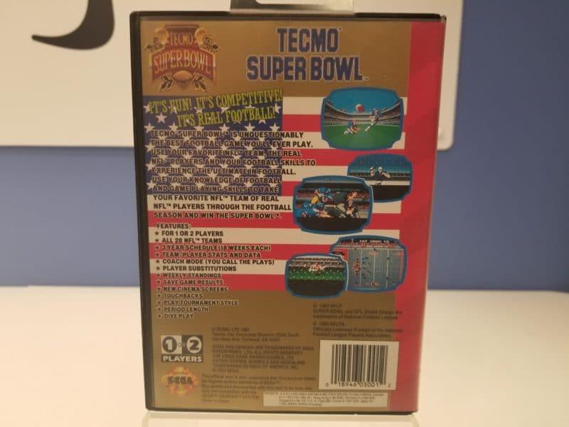 Tecmo Super Bowl Back Cover