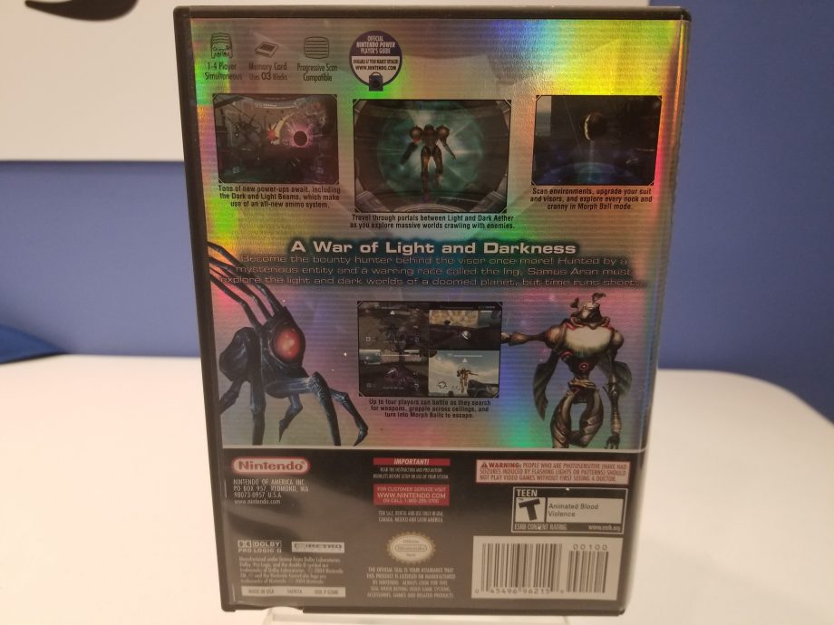 Metroid Prime 2 Echoes Back Cover