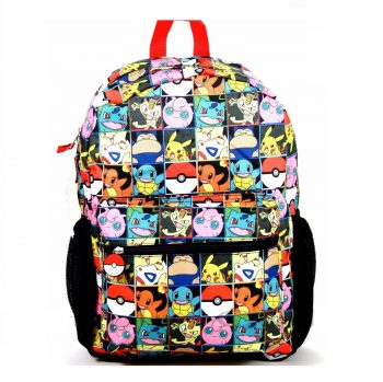 Pokemon Multi Character Backpack Front