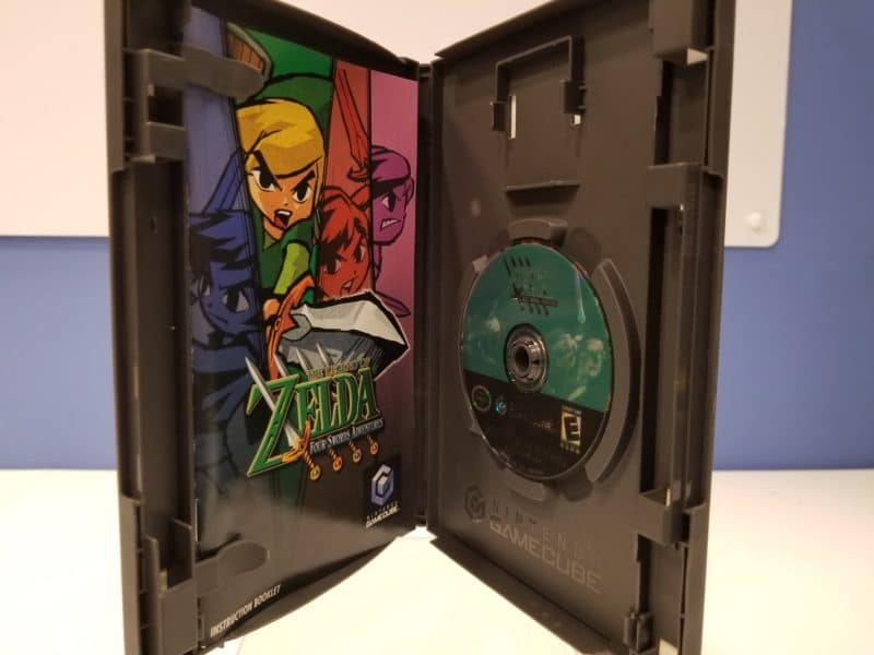 The Legend of Zelda Four Swords Adventures Back