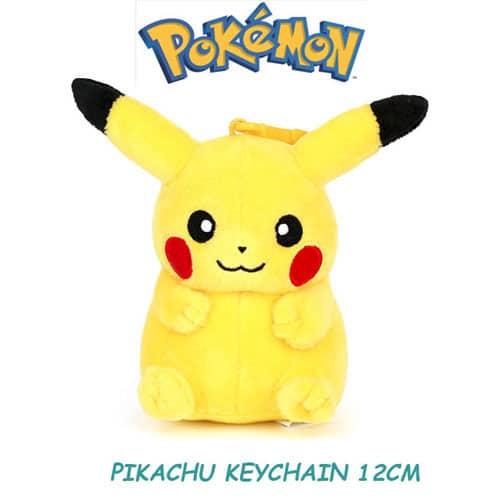 Pikachu Plushie Keychain Front