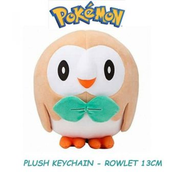 Rowlet Plushie Keychain Front