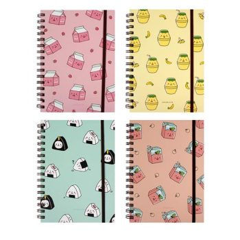 Convienece Store Hard Cover Notebook with Band Front