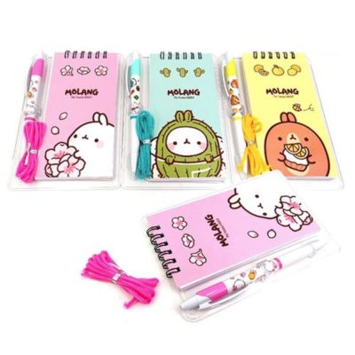 Molang Memo Pad and Pen Set Front