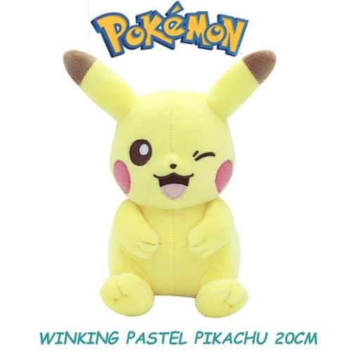 Winking Pikachu Plushie Front