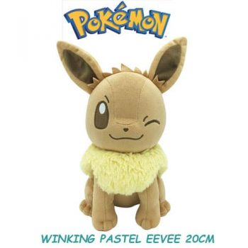 Winking Eevee Plushie Front