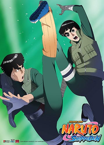 Rock Lee and Mighty Guy Wall Scroll