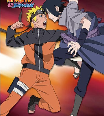 Naruto vs Sauske Wall Scroll