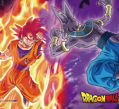 Dragon Ball Super Goku vs Beerus Wall Scroll