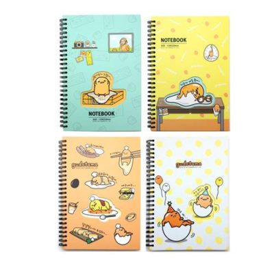 Gudetama Hard Cover Spiral Notebook