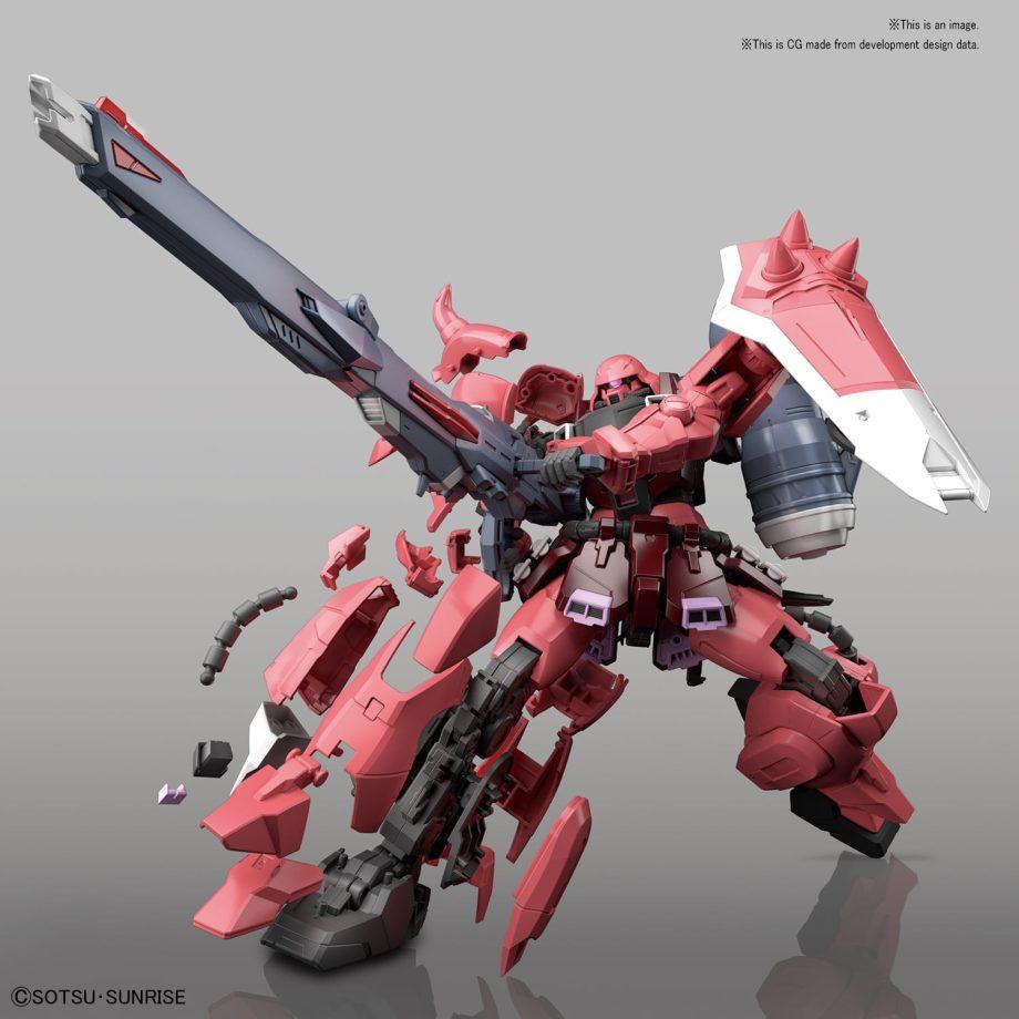 Master Grade Gunner Zaku Warrior (Lunamaria Hawke Custom) Pose 3