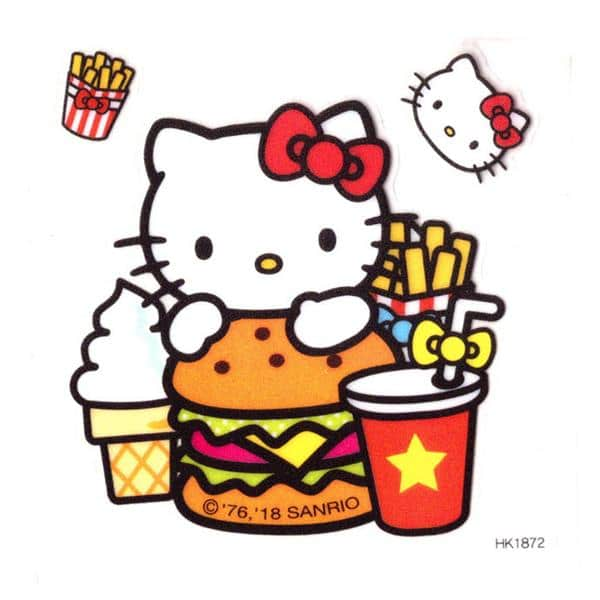 Hello Kitty Decoration Sticker Sheet Pose 2