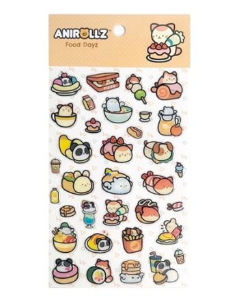 Anirollz Stickers Set - Food Day