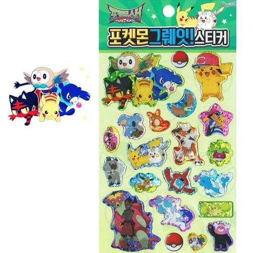 Pokemon Great! Stickers Green