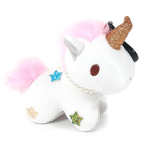 Unicorn Keychain Plush - White Side