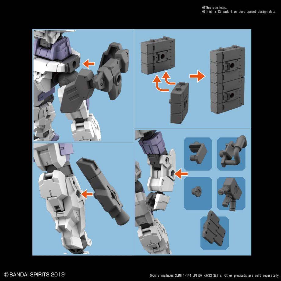 30 Minute Missions: 1/144 Option Parts Set 2 Pose 2