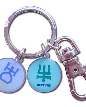 Sailor Uranus & Sailor Neptune Symbol Metal Keychain