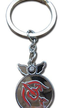 Sailor Mars Change Rod Metal Keychain