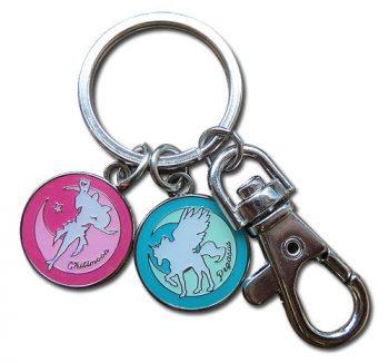 Chibi Moon and Pegasus Metal Keychain