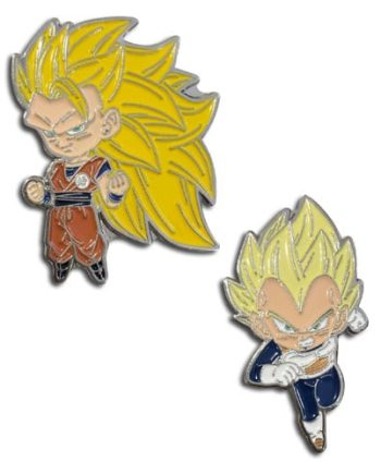 Super Saiyan 3 Goku & Super Saiyan Vegeta Pin Set