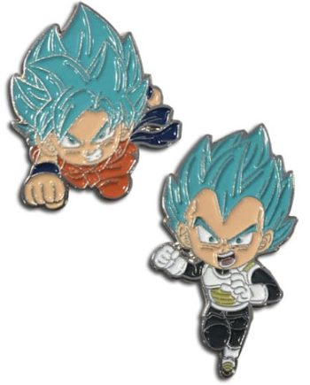 Super Saiyan Blue Goku & Super Saiyan Blue Vegeta Pin Set