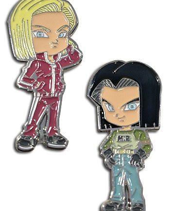 Android 17 & Android 18 Pin Set