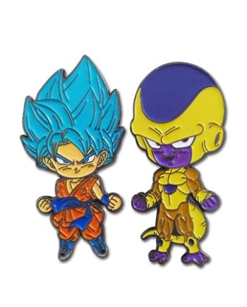 Super Saiyan Blue Goku & Golden Frieza Pin Set