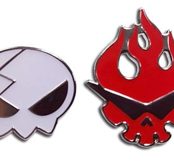 Dai Gurren and Yoko Skull Pin Set