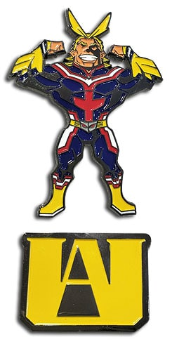 All Might & UA Logo Pin Set