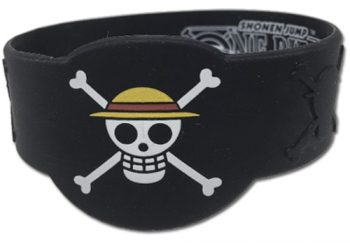 Luffy Jolly Roger PVC Wristband
