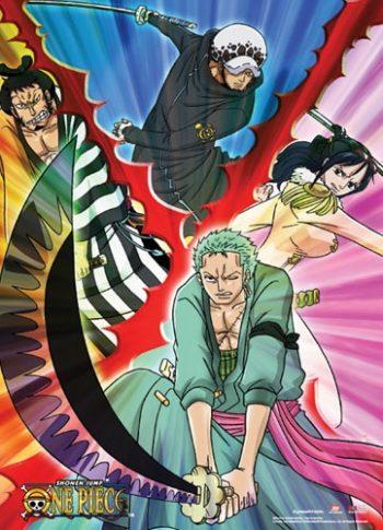 One Piece: Swordsmen Wall Scroll