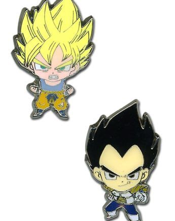 Super Saiyan Goku & Vegeta Pin Set