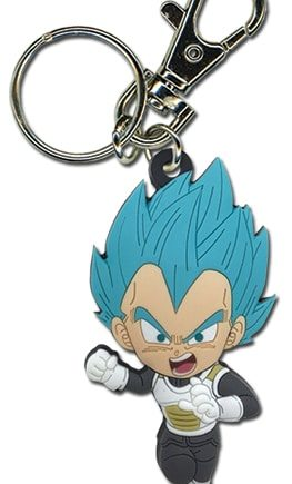 SD Super Saiyan Blue Vegeta PVC Keychain Version 2