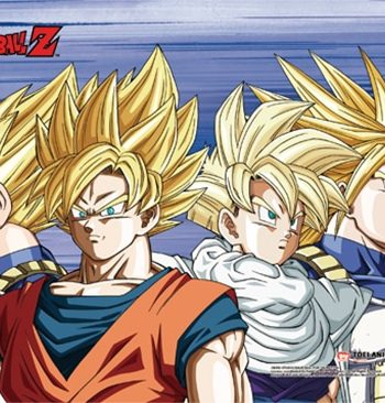Saiyan Group Wall Scroll Version 2