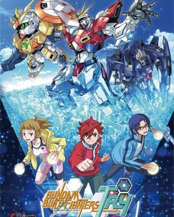 Gundam Build Fighters Try: Key Art Wall Scroll