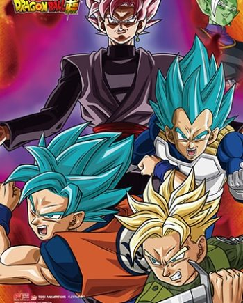 Super Saiyan Rose Group Wall Scroll