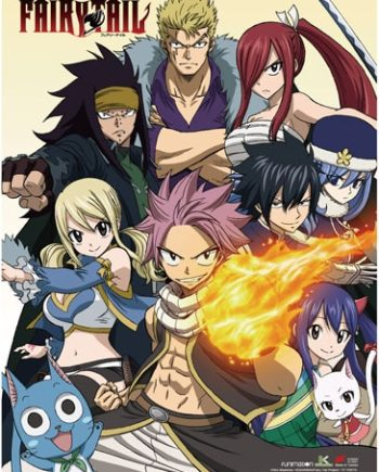 Fairy Tail: Group Wall Scroll Version 2