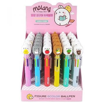 Molang Character 6-Color Ballpoint Pen